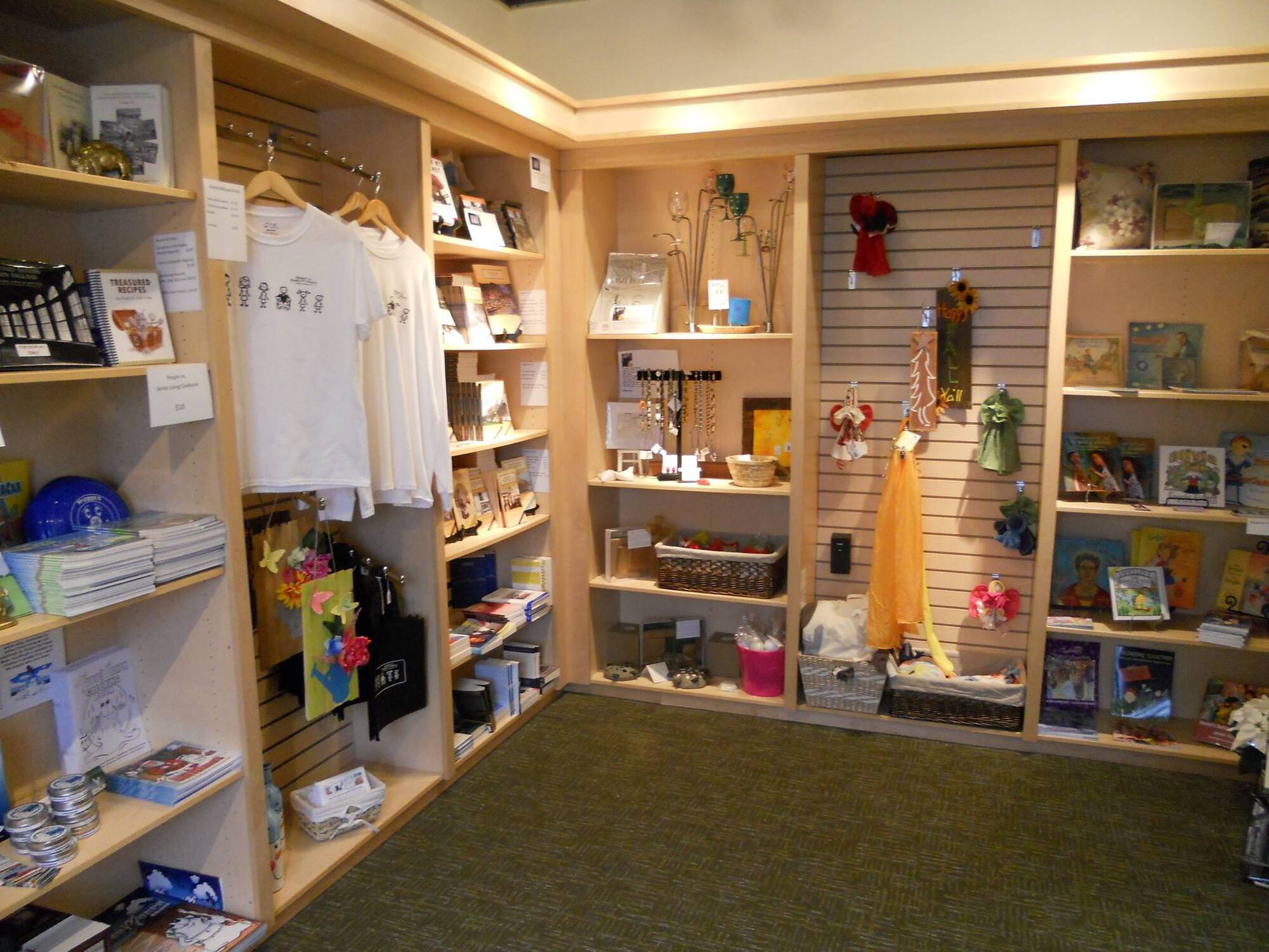 A photo of the museum store